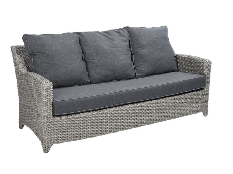 Beach7 tuinmeubelen beach7 love day 3 zits sofa set cloudy grey te velde - Sofa vlechtwerk ...