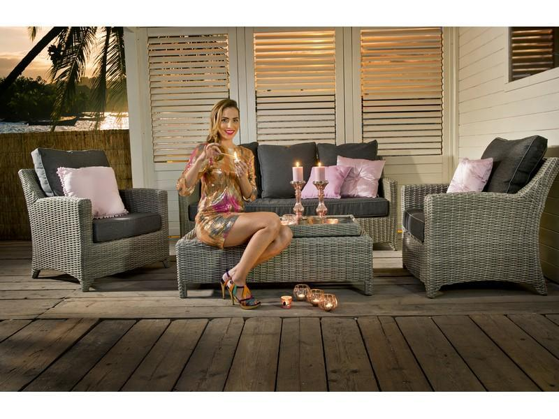 Loungesets beach7 love day 3 zits sofa set cloudy grey te velde - Sofa vlechtwerk ...