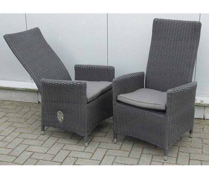 Tuinstoelen nodig? Garden Comfort Cordoba gasveerverstelbare stoel grijs   Te Velde