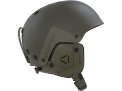 Salomon skihelm brigade stone grey